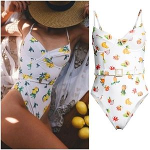 WeWoreWhat Danielle Fruits Belted One Piece In